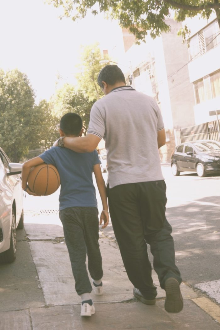 father and son play basketball city life sunday funday street photography mexico city cdmx adventure and explore photography bus go with the flow