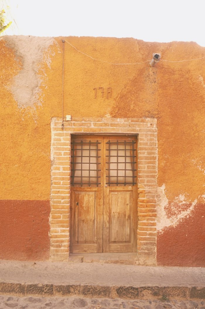 san miguel de allende - doors - old cobbled doorways - mexico - old town - vintage - street photography
