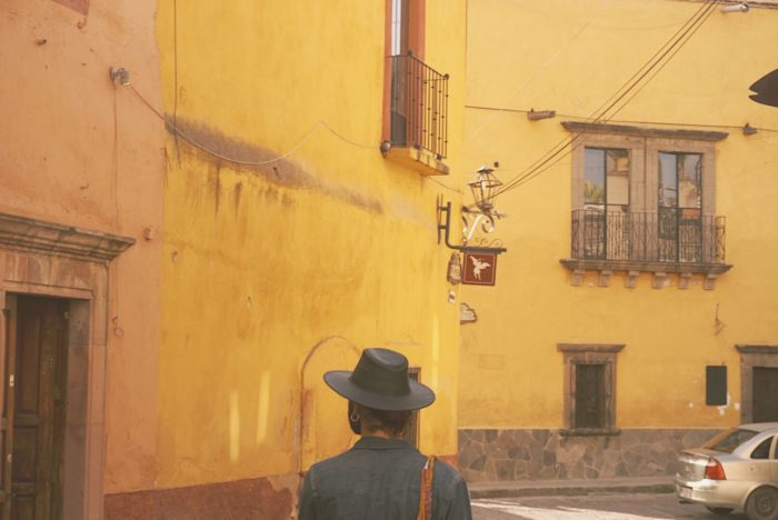 san miguel de allende - street walks - alley strolls - get lost - hat man - mexico