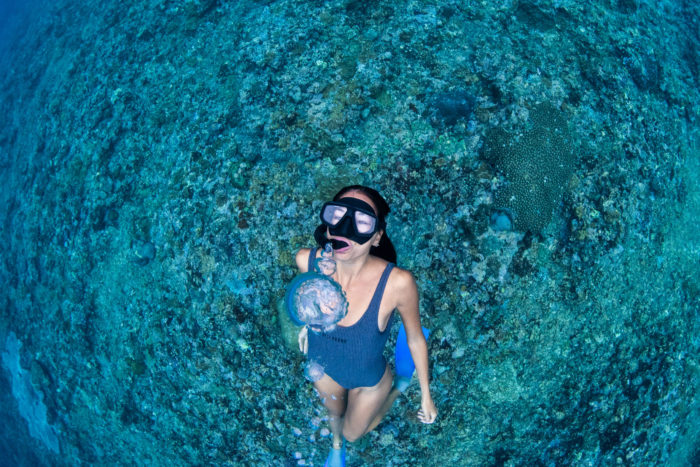 danielle underwater photography snorkeling travel ocean mermaid